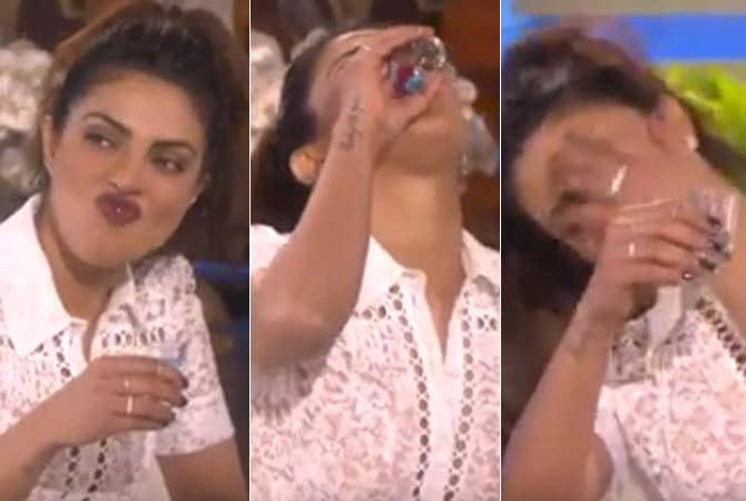 OMG! Priyanka Chopra took Tequila Shots on Live TV