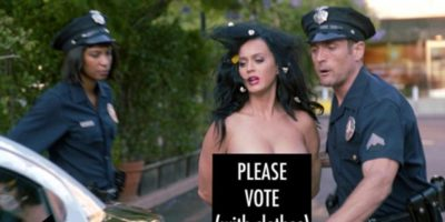 WATCH: Katy Perry STRIPS NAKED - A New Funny Or Die Video in New Parody Clip to Vote at US Elections