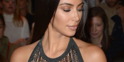 Kim Kardashian Has Gone Virtually Nude In A Sheer Knit Dress at Balmain