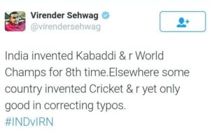 Sehwag is all set to leave you in splits with virukefunde
